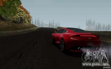 Aston Martin Vanquish 2012 para GTA San Andreas vista posterior izquierda