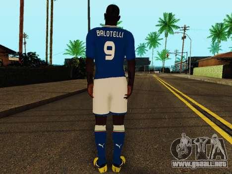 Mario Balotelli v4 para GTA San Andreas sucesivamente de pantalla