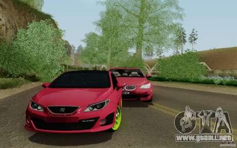 Seat Ibiza Cupra para GTA San Andreas vista posterior izquierda