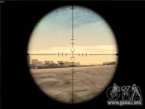 Remington 700 para GTA San Andreas quinta pantalla