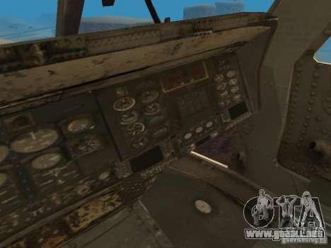 El UH-60 de COD MW3 para visión interna GTA San Andreas