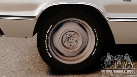 Dodge Coronet 1967 para GTA 4 vista desde abajo