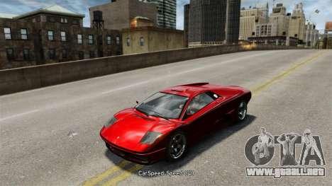 Velocidad del vehículo para GTA 4 adelante de pantalla