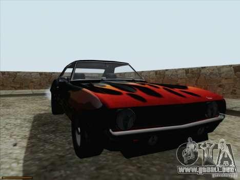 Chevrolet Camaro 1969 para vista lateral GTA San Andreas