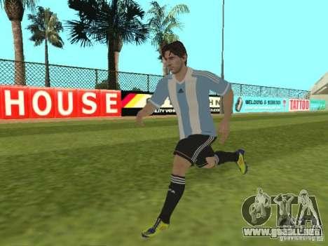 Lionel Messi para GTA San Andreas sexta pantalla