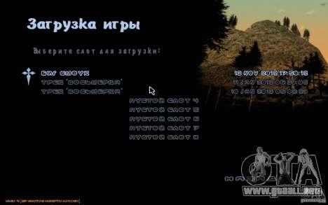 Nuevo tipo de letra para GTA San Andreas segunda pantalla