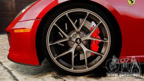 Ferrari 599 GTO 2011 para GTA 4 vista superior