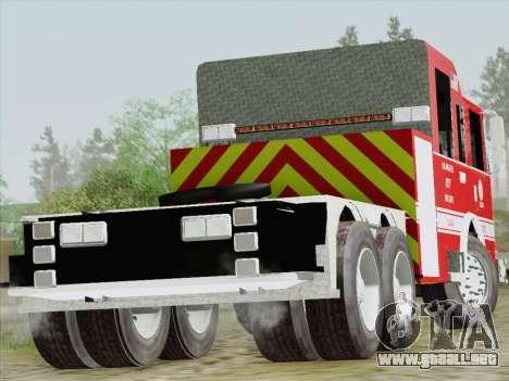 Pierce Arrow XT LAFD Tiller Ladder Truck 10 para la visión correcta GTA San Andreas