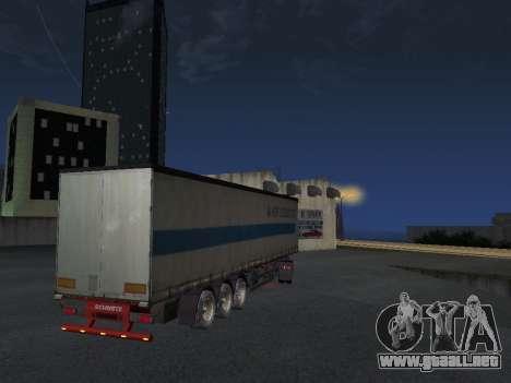 Remolque Schmitz para GTA San Andreas vista posterior izquierda