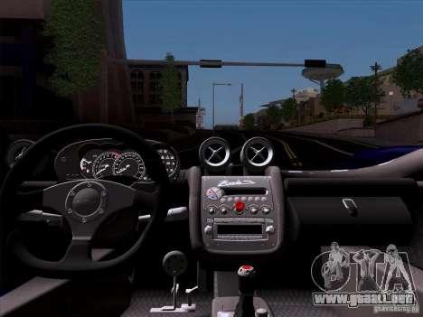 Pagani Zonda C12S Roadster para GTA San Andreas vista hacia atrás