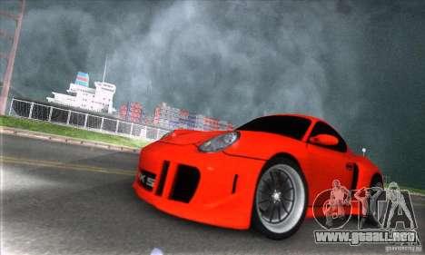 Porsche Cayman S v2 para GTA San Andreas vista hacia atrás