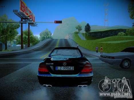 Mercedes-Benz CLK 55 AMG Coupe para GTA San Andreas vista posterior izquierda