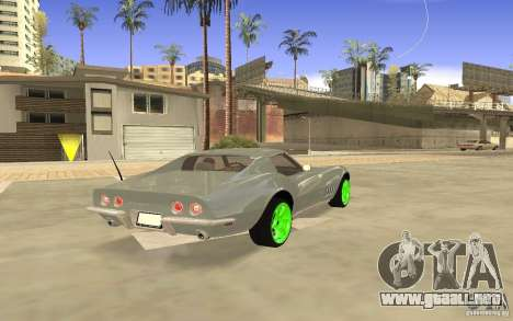 Chevrolet Corvette Stingray Monster Energy para GTA San Andreas vista hacia atrás