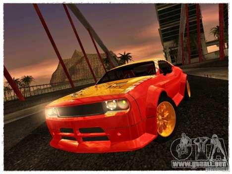Dodge Challenger Calibri-Ace para GTA San Andreas vista posterior izquierda