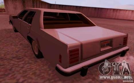 Ford Crown  Victoria LTD 1985 para GTA San Andreas left