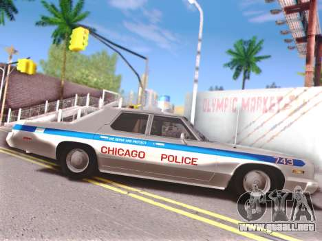 Dodge Monaco 1974 para vista inferior GTA San Andreas