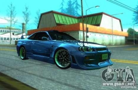 Nissan Skyline GT-R34 para GTA San Andreas left