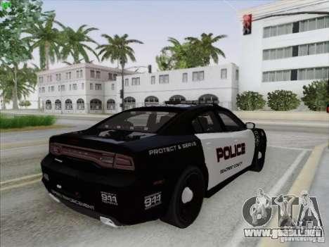Dodge Charger 2012 Police para la vista superior GTA San Andreas