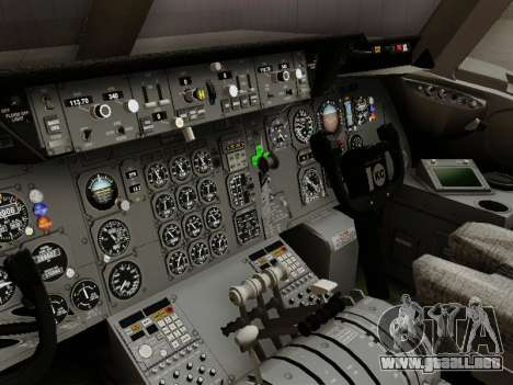 McDonell Douglas DC-10-30 Continental para visión interna GTA San Andreas