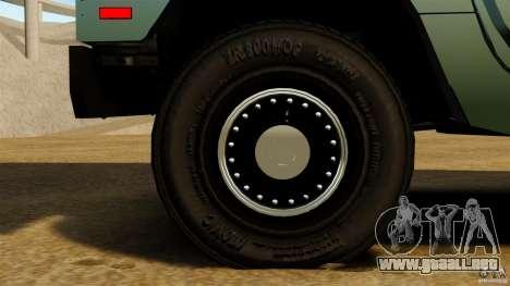 Hummer H1 Alpha para GTA 4 vista hacia atrás