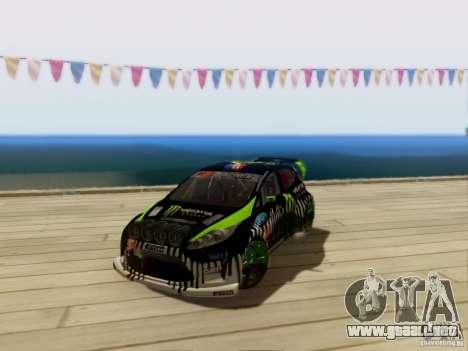Ford Fiesta Gymkhana 3 para GTA San Andreas left
