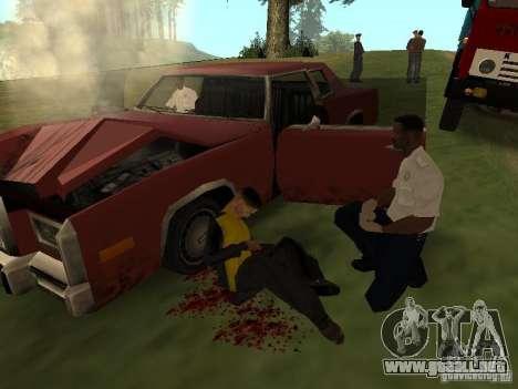 Un horrible accidente para GTA San Andreas tercera pantalla