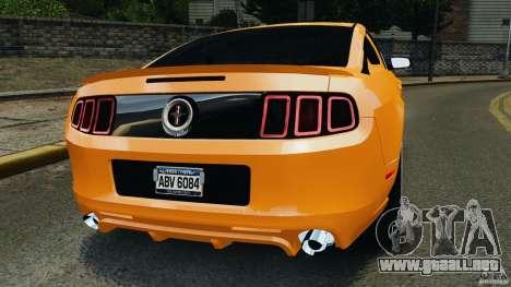 Ford Mustang 2013 Police Edition [ELS] para GTA 4 Vista posterior izquierda