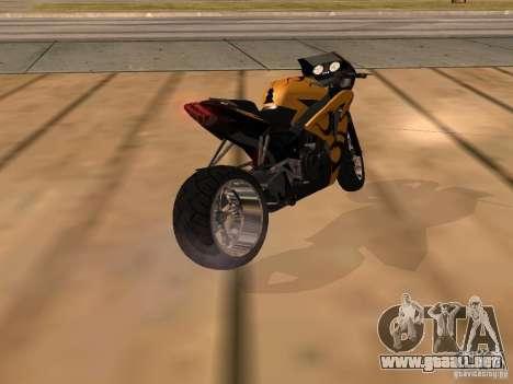 Bajaj Pulsar 620 Custom para GTA San Andreas left