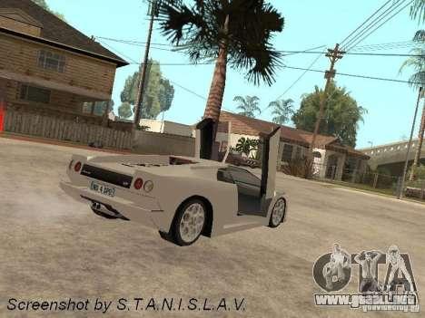 Lamborghini Diablo para GTA San Andreas left