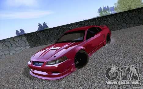 Ford Mustang SVT Cobra 2003 Black wheels para GTA San Andreas