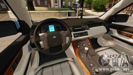 Land Rover Range Rover Sport Supercharged 2010 para GTA 4 vista hacia atrás