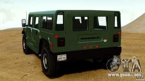 Hummer H1 Alpha para GTA 4 Vista posterior izquierda