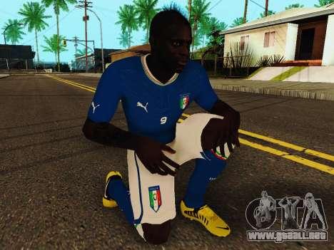 Mario Balotelli v4 para GTA San Andreas quinta pantalla