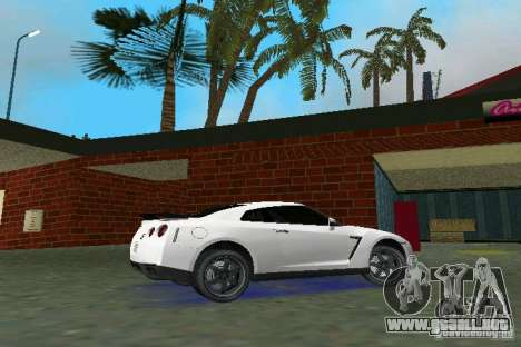 Nissan GT-R Spec V 2010 v1.0 para GTA Vice City vista lateral izquierdo