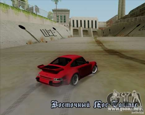 Porsche 911 Turbo para visión interna GTA San Andreas
