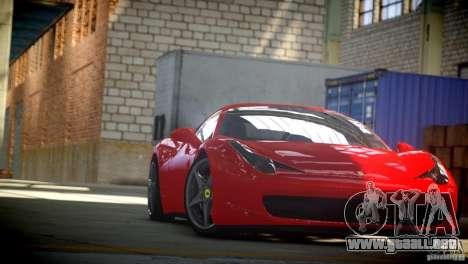 Ferrari 458 Italia 2010 Autovista para GTA 4