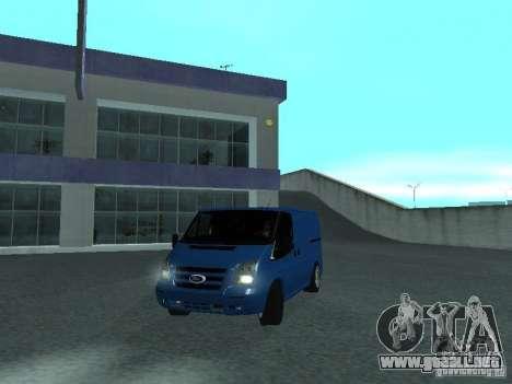 Ford Transit Sport 2011 para GTA San Andreas vista posterior izquierda