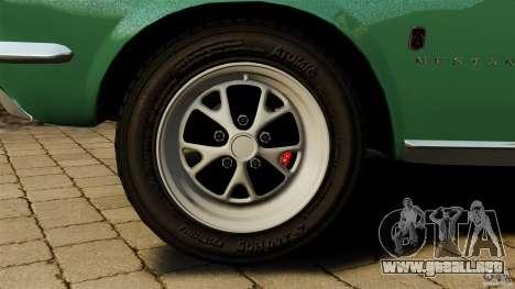 Ford Mustang 1967 para GTA 4 vista superior