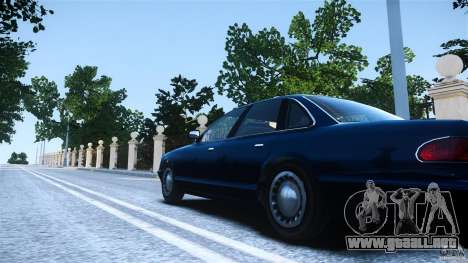 Civilian Taxi - Police - Noose Cruiser para GTA 4 Vista posterior izquierda