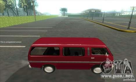 Nissan Caravan E20 para GTA San Andreas left