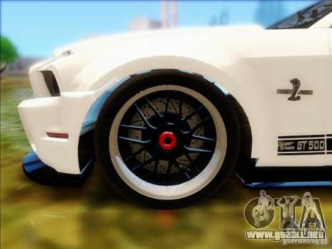 Ford Shelby GT500 SuperSnake NFS The Run Edition para la visión correcta GTA San Andreas
