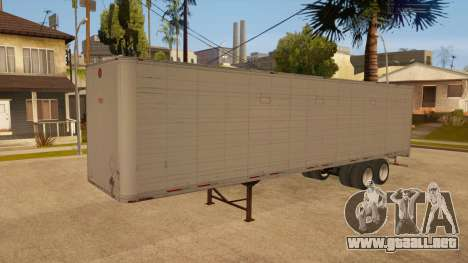 Remolque de todo-metal para vista lateral GTA San Andreas