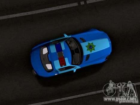 Mercedes-Benz SLS AMG Blue SCPD para visión interna GTA San Andreas