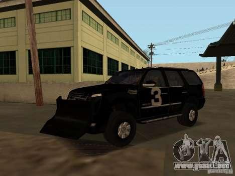 Cadillac Escalade Tallahassee para vista lateral GTA San Andreas