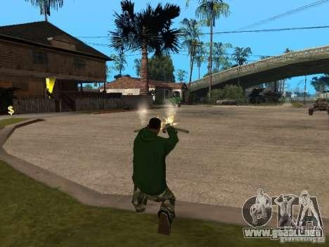 Uso del almacén tu banda para GTA San Andreas sucesivamente de pantalla