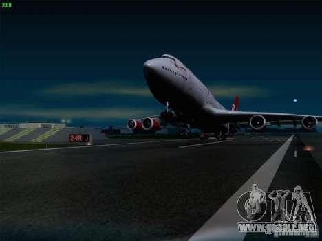 Boeing 747-4Q8 Lady Penelope para vista lateral GTA San Andreas