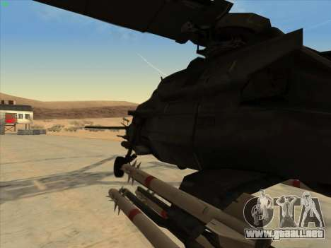 RQ-50 Hammerhead para GTA San Andreas vista posterior izquierda