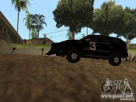 Cadillac Escalade Tallahassee para GTA San Andreas vista hacia atrás