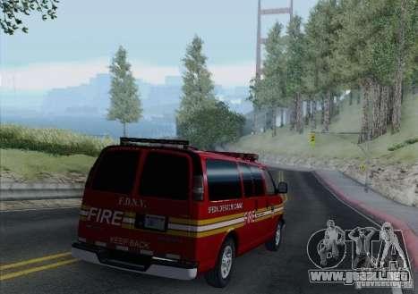 Chevrolet Express Special Operations Command para vista lateral GTA San Andreas