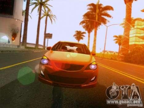 Opel Astra Senner Lower Project para GTA San Andreas vista hacia atrás